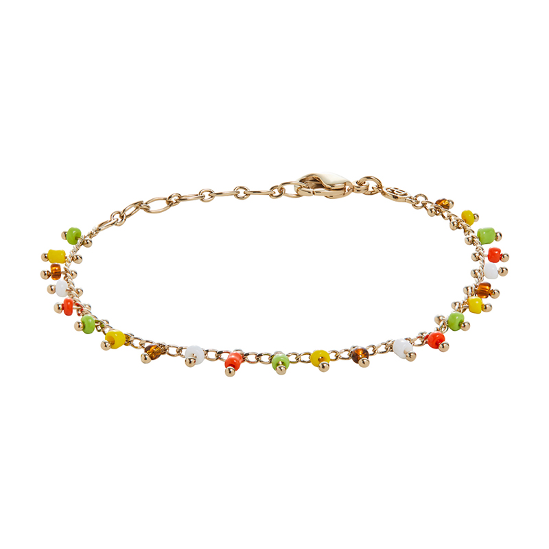 SIA Necklace, gold plated, multicoloured