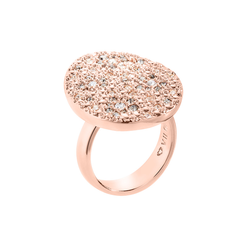 IRBIS Rings, rose gold plated, multicolor