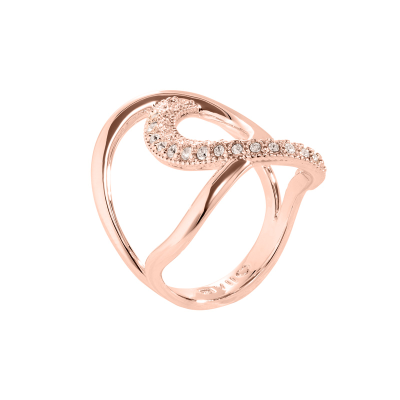 TALIA Rings, rose gold plated, nude