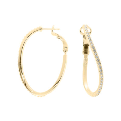 SERENITY Ear Hoops, gold plated, cystal coloured