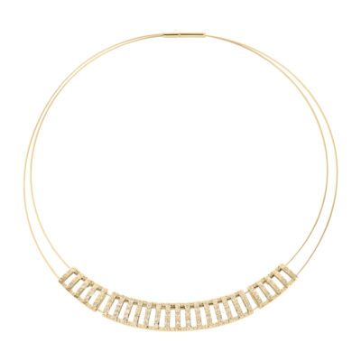 GRACE Collier, gold plated, cystal coloured