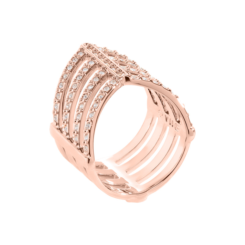 AMAYA Rings, rose gold plated, cystal coloured