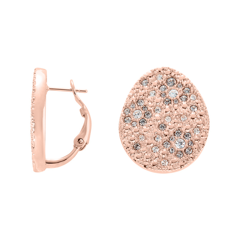 IRBIS Earrings, rose gold plated, multicolor