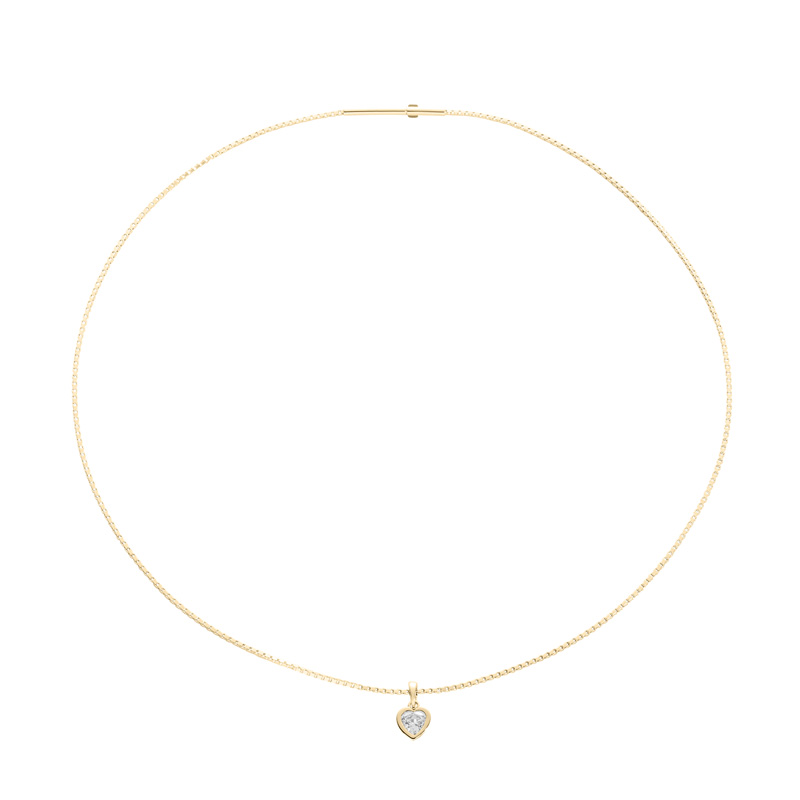 FLYING HEARTS Collier, gold plated, Zirkonia [synthetic stone]