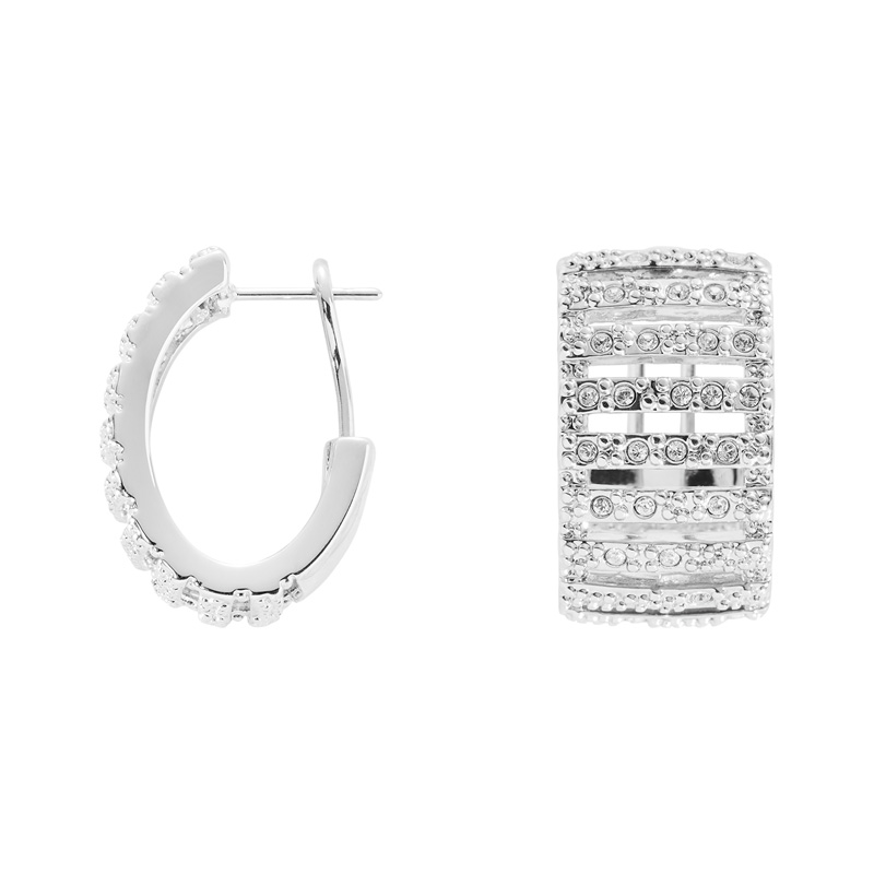 GRACE Rings, rhodium plated, cystal coloured