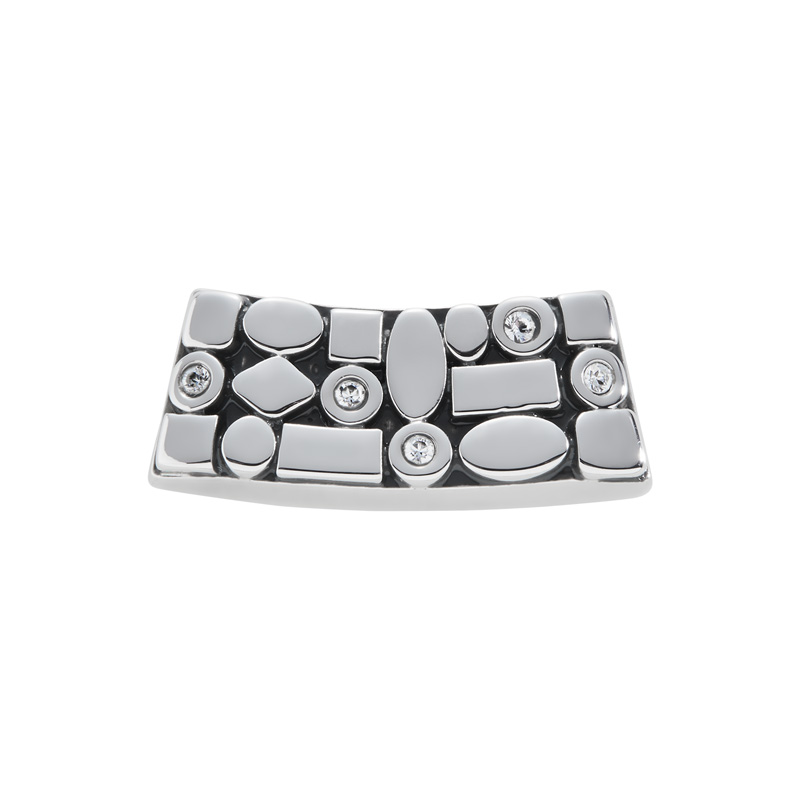 TRACE Motif, antique rhodium plated, cystal coloured