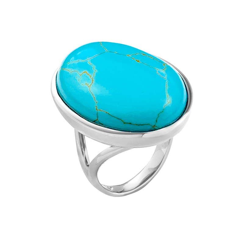 AZURE Rings, gold plated, turquoise
